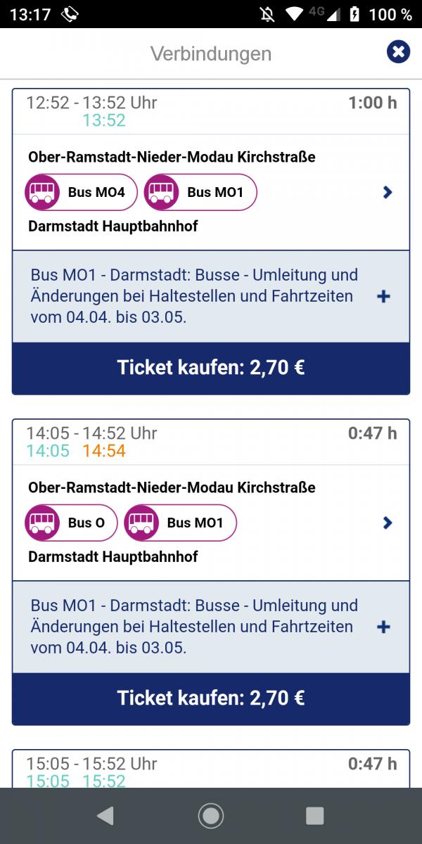 Fahrplan Bus
